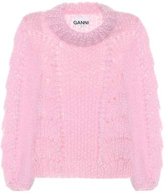 Ganni Wool and mohair sweater