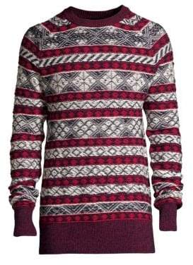 Diesel Black Gold Fairisle Alpaca-Blend Crewneck Sweater