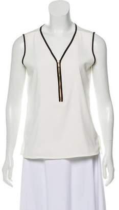 Calvin Klein Sleeveless Zippered Top