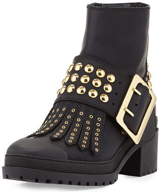 Burberry Whitchester Studded Buckle Bootie, Black $1,095 thestylecure.com