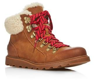 Sorel Women's Ainsley Round Toe Leather Hiking Boots - 100% Exclusive