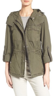 Women's Levi's Parachute Cotton Hooded Utility Jacket $150 thestylecure.com