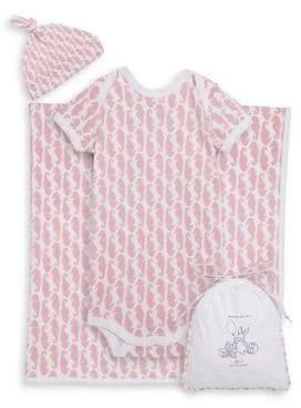 Roller Rabbit Baby Girl's Neapolitan Archipelago Four-Piece Horsea Cotton Bundle Of Joy Set