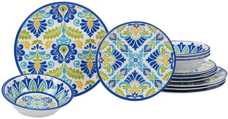 Certified International Martinique 12-piece Melamine Dinnerware Set