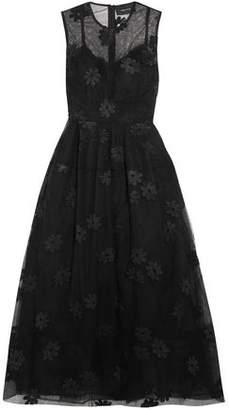Roksanda Embroidered Tulle Midi Dress