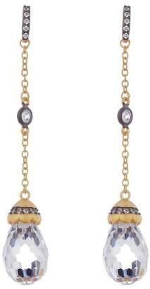 Freida Rothman Long Drop Earrings