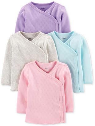 Carter's Carter Baby Girls 4-Pk. Cotton Kimono T-Shirts