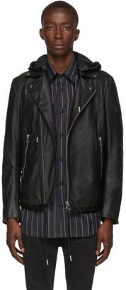 Diesel Black Leather Solove Biker Jacket