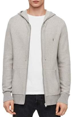 AllSaints Charter Waffle-Knit Cotton & Wool Hoodie