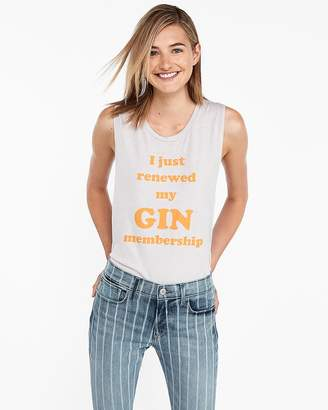 Express Gin Membership Crew Neck Muscle Tank