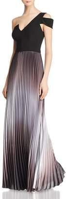 Aqua One-Shoulder Ombré Gown - 100% Exclusive