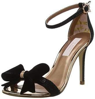 f81d64a88ec8a2 Ted Baker Women s BOWDALO Open Toe Heels Blk Black