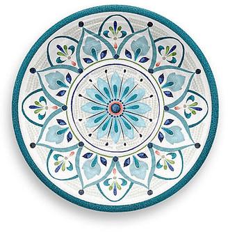 One Kings Lane Set of 6 Moroccan Melamine Salad Plates - Teal
