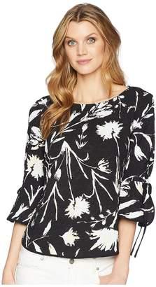 Ellen Tracy Crew Neck Top With Shirttail Hem Women's Clothing