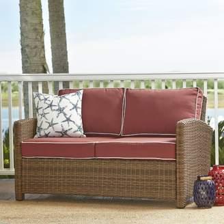 Birch Lane Lawson Wicker Loveseat with Cushions