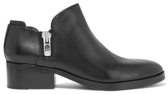 3.1 Phillip Lim - Alexa Textured-leather Ankle Boots - Black $525 thestylecure.com