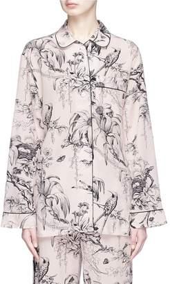 Alexander McQueen Botanical print silk pyjama shirt
