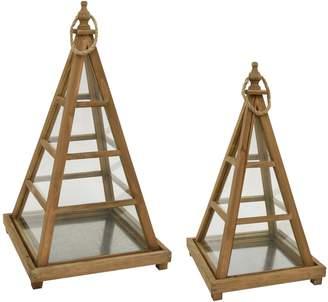 Three Hands Pyramid Terrariums (Set of 2)