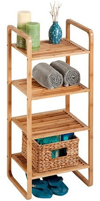 Honey-Can-Do 4-Shelf Bamboo Accessory Shelf, Brown