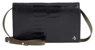 Rag & Bone Croc-Embossed Leather Crossbody Wallet