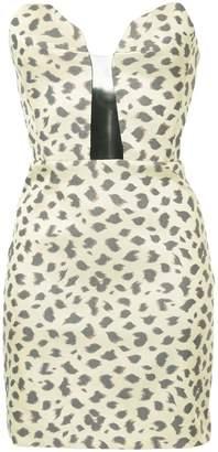 Manning Cartell strapless leopard-print dress