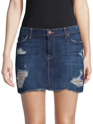 Genetic Los Angeles Women's Lyndsay Mid-Rise Denim Skirt
