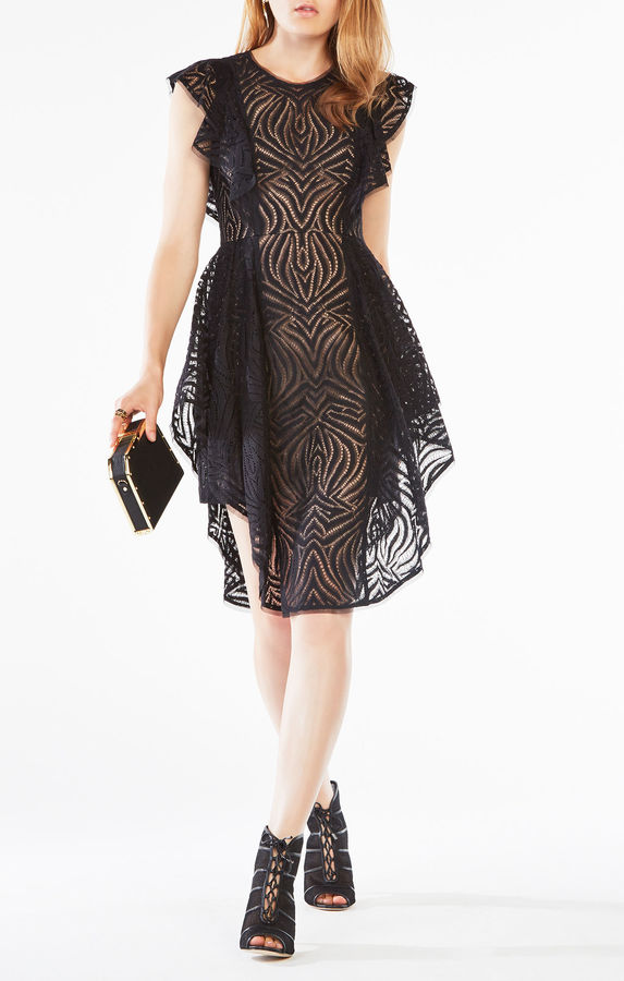 BCBGMAXAZRIAChristiania Ruffle Lace Dress