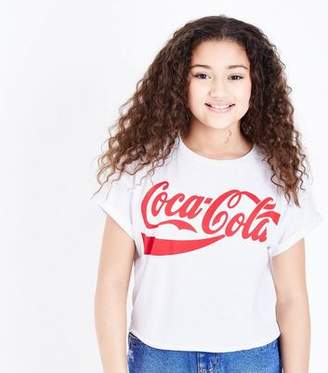 New Look Girls White Coca Cola T-Shirt
