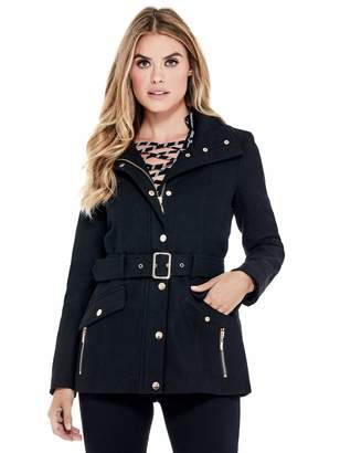 Factory Guess Women's Karlee Belted Peacoat