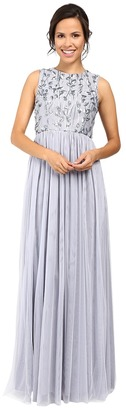 Donna Morgan - Sleeveless Mock Neck Fit Flare Women's Dress $280 thestylecure.com