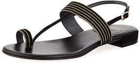 Stuart Weitzman Tracks Flat Chain/Suede Sandal