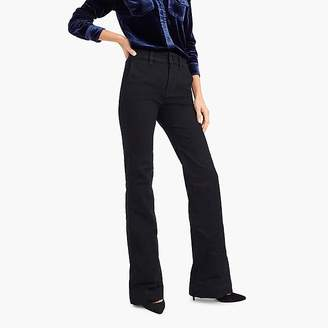 J.Crew Petite wide-leg trouser jean in black