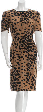 Burberry Burberry Silk Leopard Print Dress