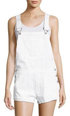 Hudson Florence Distressed Denim Overalls $265 thestylecure.com