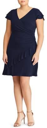 Lauren Ralph Lauren Hartley Ruffle Fit & Flare Dress