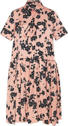 Rochas Floral-Print Silk Dress