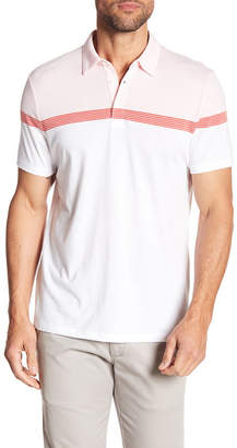 Perry Ellis Striped Short Sleeve Polo