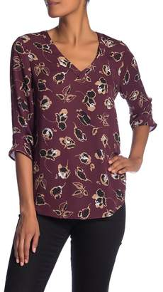 Daniel Rainn DR2 by 3\u002F4 Sleeve Back Cutout Shirt
