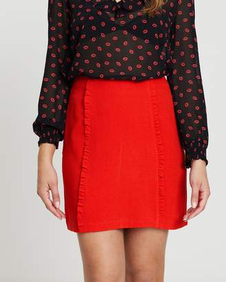 Oasis Ruffle Mini Skirt