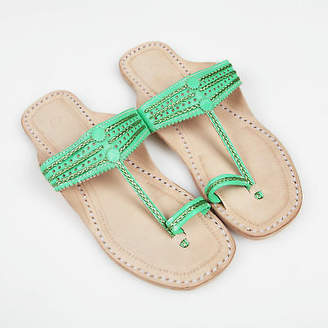 NEW Handmade leather sandals in absinthe green by Banjarans Leather Sandals