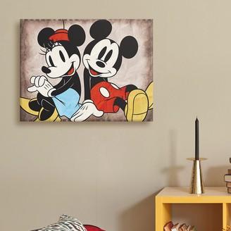 ... Disney Disneyu0027s Mickey Mouse U0026 Minnie Mouse Canvas Wall Art