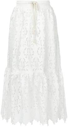 See by Chloe lace midi skirt