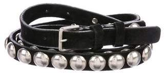 Ann Demeulemeester Leather Studded Belt