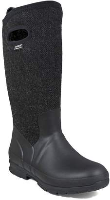 Bogs Outdoor Boots Womens Crandall Wool Pull On Plush 8 M Black 72108