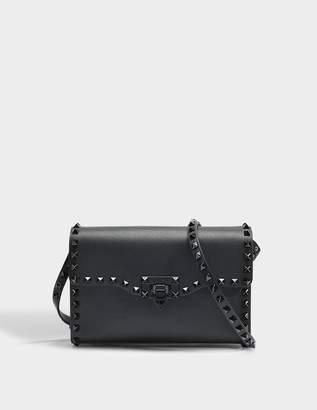 Valentino 181 Rockstud Medium shoulder bag with tone on tone studs