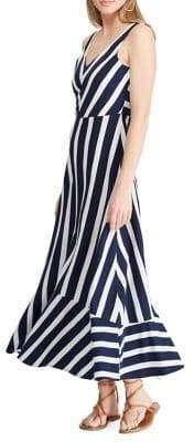 Chaps Striped Cotton Fit--Flare Dress