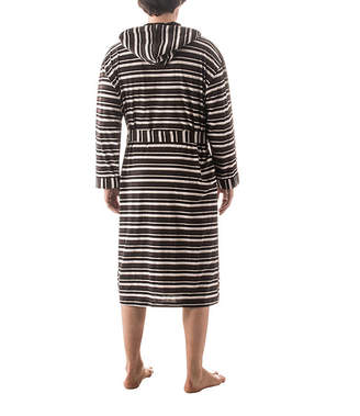 RESIDENCE Residence Striped Hooded Robe - Big