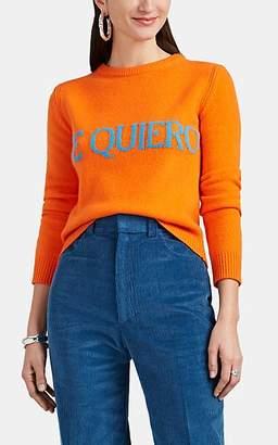 "Alberta Ferretti Women's ""Te Quiero"" Wool-Cashmere Sweater - Orange"