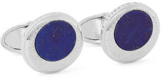 Dunhill Sterling Silver Lapis Cufflinks - Men - Silver