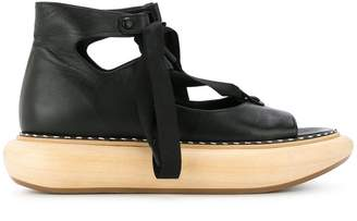 Loewe wood platform sandals